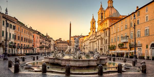 Piazza Navona, Rome Liveliest square